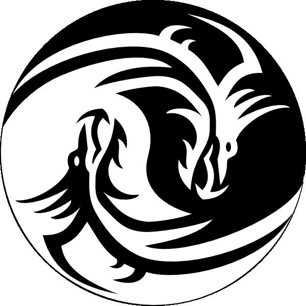 Yin yang sun free clipart image transparent download dragon clipart | Dragon Yin Yang Large clip art - vector clip art ... image transparent download