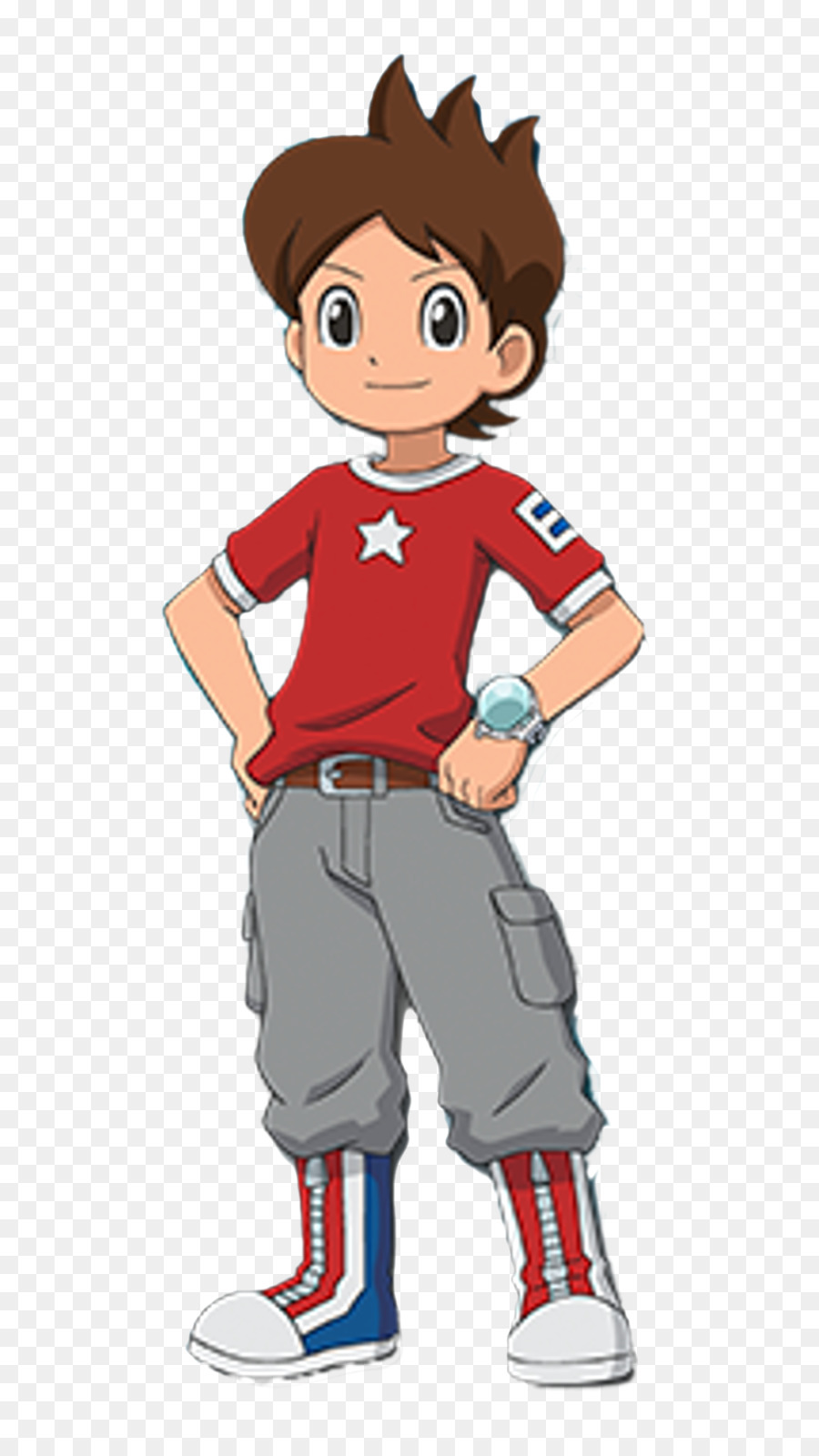 Yo kai watch clipart picture freeuse download Cartoon Football clipart - Red, Clothing, Man, transparent ... picture freeuse download