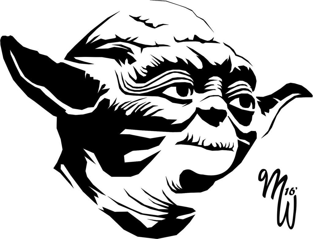 Yoda and the empire strikes back black and white clipart jpg free Yoda Vector WIP by MillieWright | Silhouettes, Stencils ... jpg free