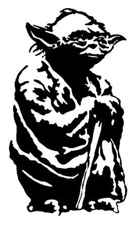 Yoda and the empire strikes back black and white clipart vector black and white library Yoda Black And White Outline | Silhouette Cameo Ideas | Star ... vector black and white library