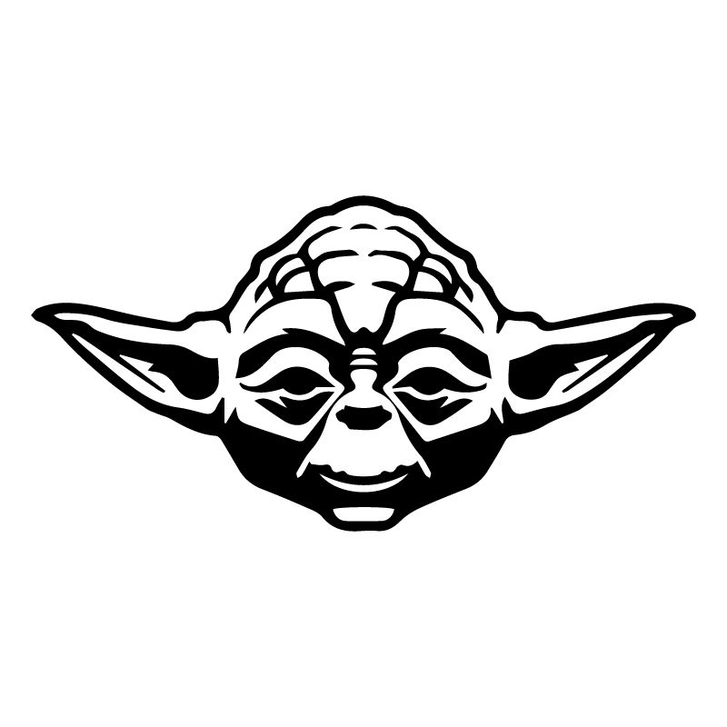 Yoda and the empire strikes back black and white clipart vector Yoda Face Silhouette | Great free clipart, silhouette ... vector