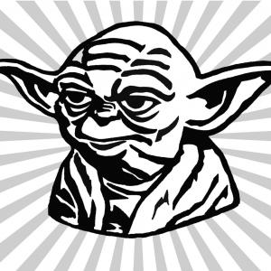 Yoda and the empire strikes back black and white clipart free library Yoda And The Force Ghost | GeekChicPro free library