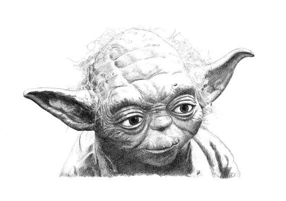 Yoda and the empire strikes back black and white clipart svg transparent YODA pencil drawing | Drawing in 2019 | Pencil drawings ... svg transparent