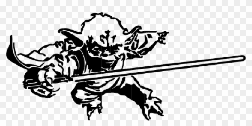 Yoda and the empire strikes back black and white clipart clip art free library Free Png Download Yoda Png Black And White S Clipart - Yoda ... clip art free library