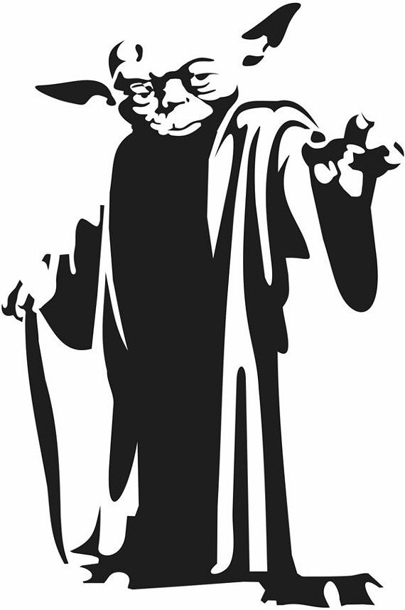 Yoda and the empire strikes back black and white clipart svg free stock The most awesome yoda illustration i\'ve seen yet!: | Star ... svg free stock