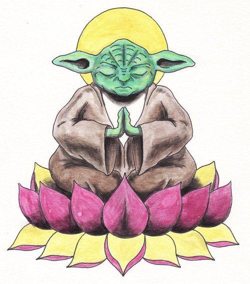 Yoda buddha clipart graphic freeuse Need a better yoda drawing but Yoda Buddha tattoo.   It\'s ... graphic freeuse