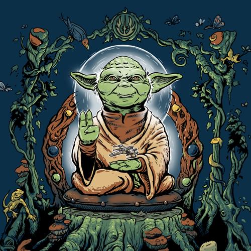 Yoda buddha clipart picture royalty free stock Yodhisattva (Yoda Buddha), photo print\