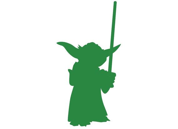 Yoda silhouette clipart free transparent stock Yoda Silhouette Paper Ephemera Cut Out Art Any by ... transparent stock