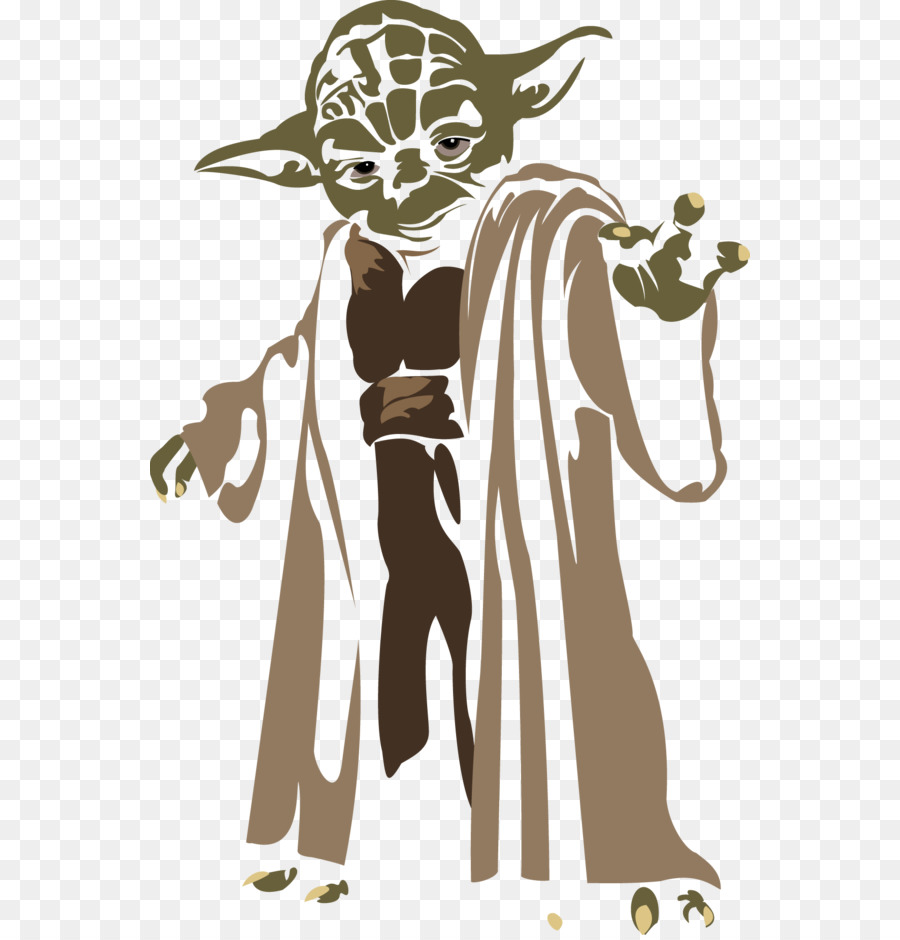 Yoda silhouette clipart free picture stock Star Wars Silhouette png download - 600*935 - Free ... picture stock