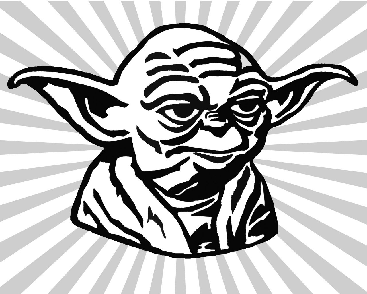 Yoda silhouette clipart free banner royalty free stock Yoda Black And White Clipart - Clipart Kid | characters ... banner royalty free stock