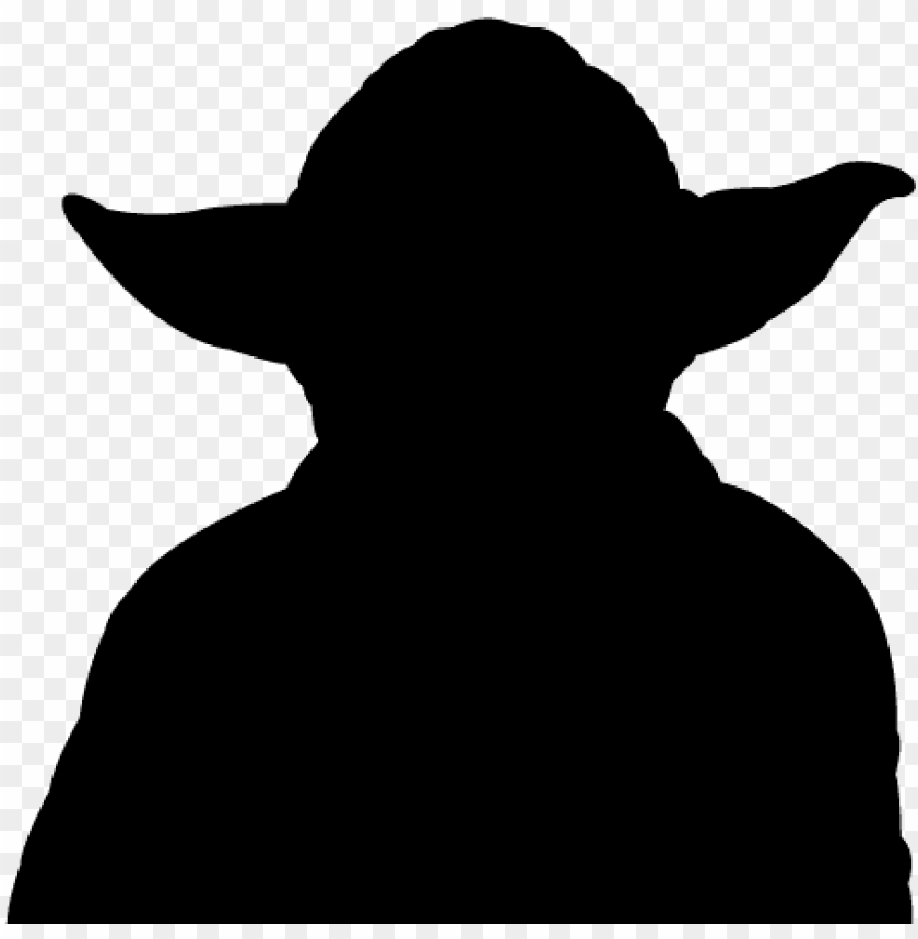 Yoda silhouette clipart free graphic free download yoda - silhouette PNG image with transparent background | TOPpng graphic free download