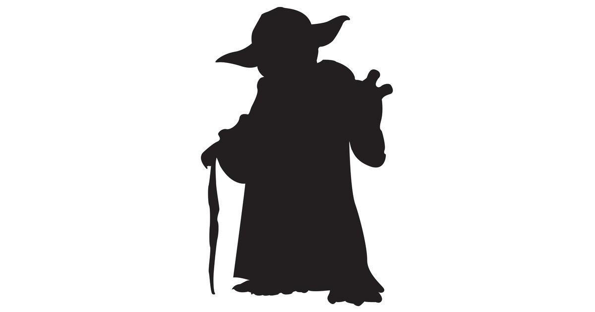 Yoda silhouette clipart free vector freeuse download Star Wars Yoda Silhouette at GetDrawings.com | Free for ... vector freeuse download