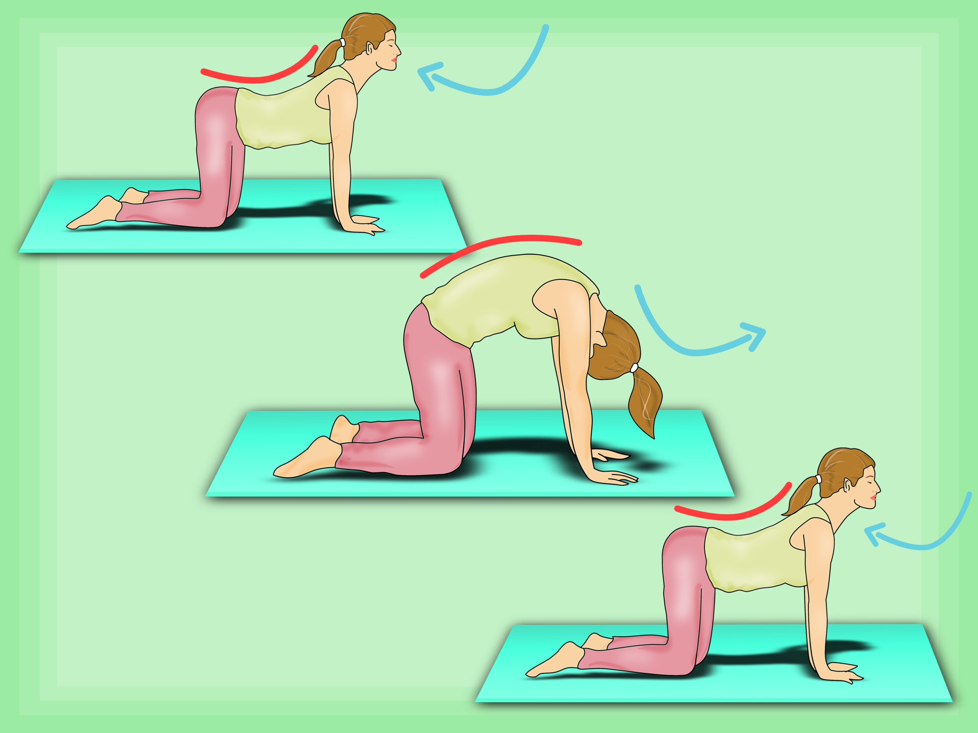 Yoga cat pose clipart clip art freeuse How to Do the Cat‐Cow Yoga Pose: 7 Steps (with Pictures) clip art freeuse