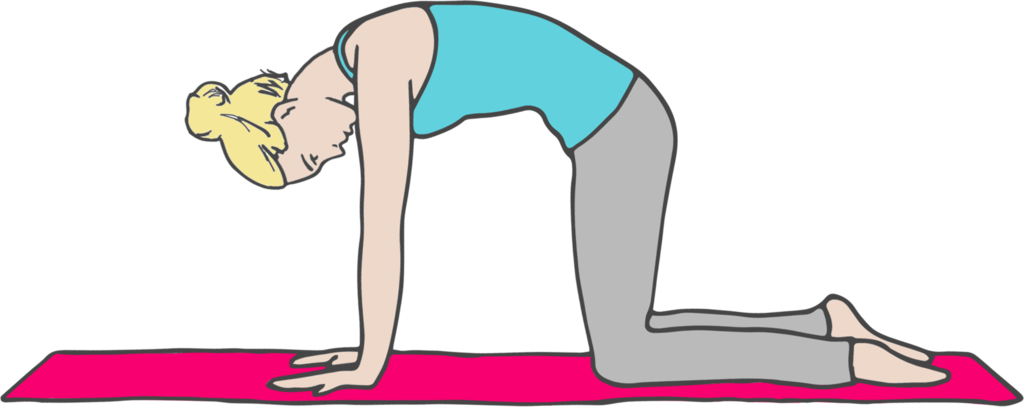 Yoga cat pose clipart jpg free library 5 Yoga Poses For Dealing With Life\'s Struggles – SWEAT jpg free library