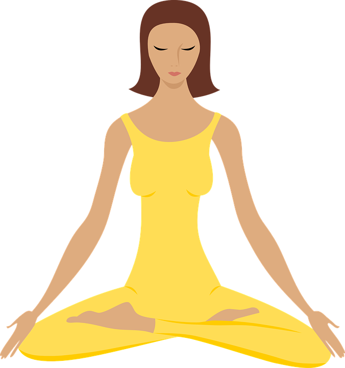 Woman yoga clipart free
