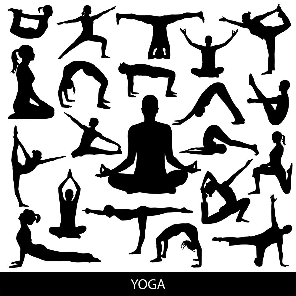 Yoga clipart free silhouettes graphic transparent stock FREE Download Vector Yoga silhouette poses. #namaste #tshirt ... graphic transparent stock