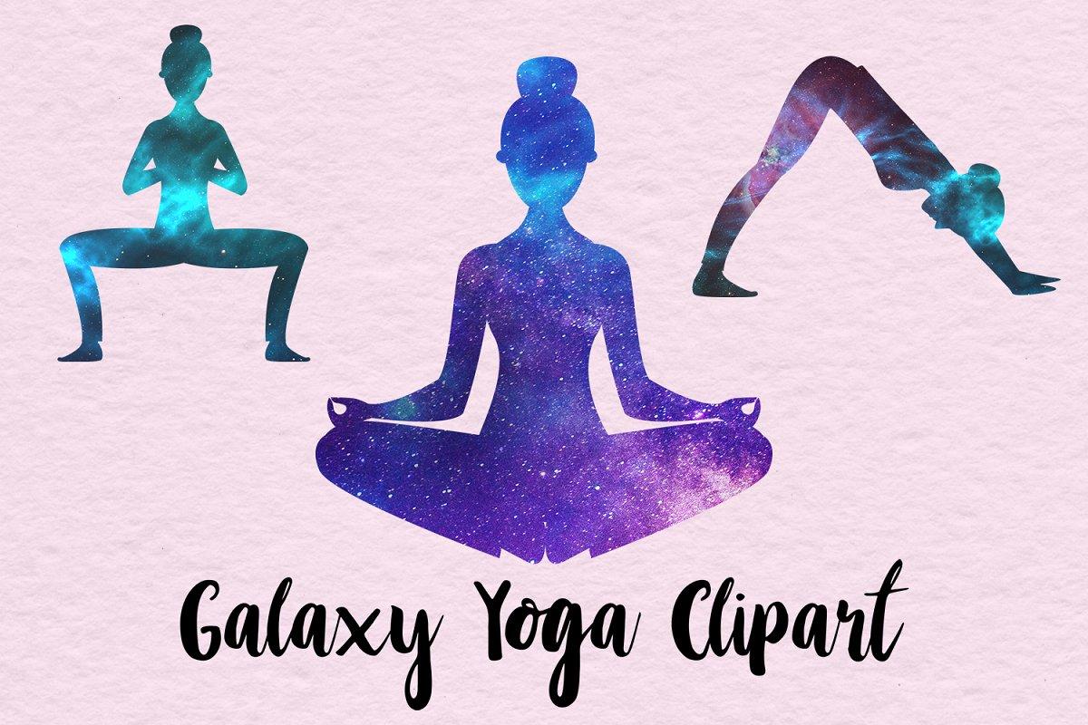 Yoga clipart transparent download Galaxy Yoga Clipart transparent download