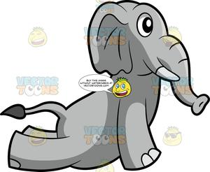 Yoga cobra clipart image black and white library An Elephant Doing Cobra Yoga Pose image black and white library