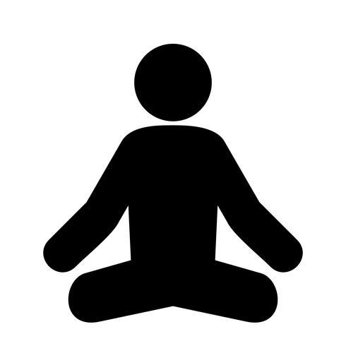 Yoga icon clipart picture black and white Vector Yoga Icon - Download Free Vectors, Clipart Graphics ... picture black and white