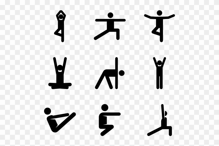 Yoga icon clipart banner royalty free download Yoga Pictograms - Yoga Pose Icon Clipart (#857654) - PinClipart banner royalty free download