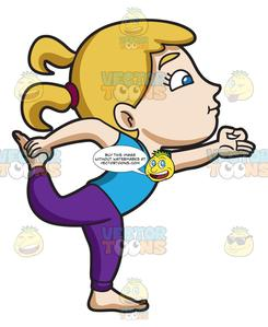 Yoga kid clipart picture freeuse library A Girl Balancing Herself In A Yoga Pose picture freeuse library