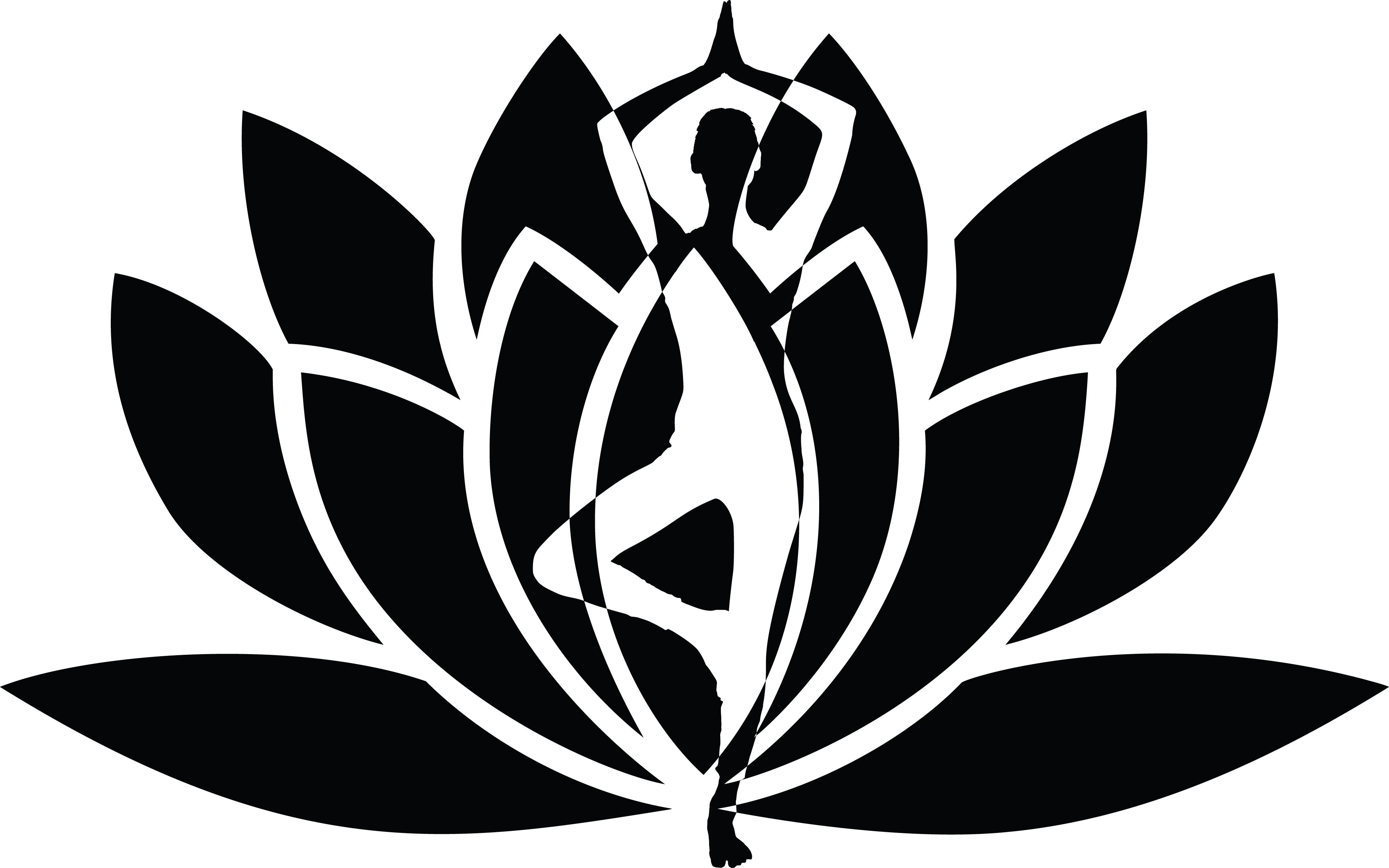 Yoga lotus flower clipart clip black and white download Free Clipart of a Silhouetted Woman Doing Yoga Over a Lotus ... clip black and white download