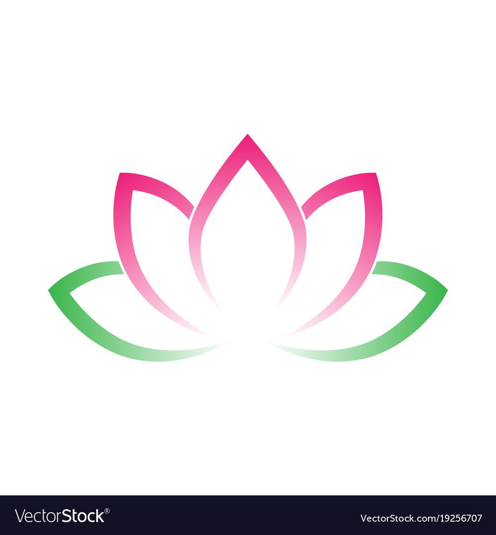 Yoga lotus flower clipart image royalty free library Calligraphic lotus blossom yoga symbol simple image royalty free library
