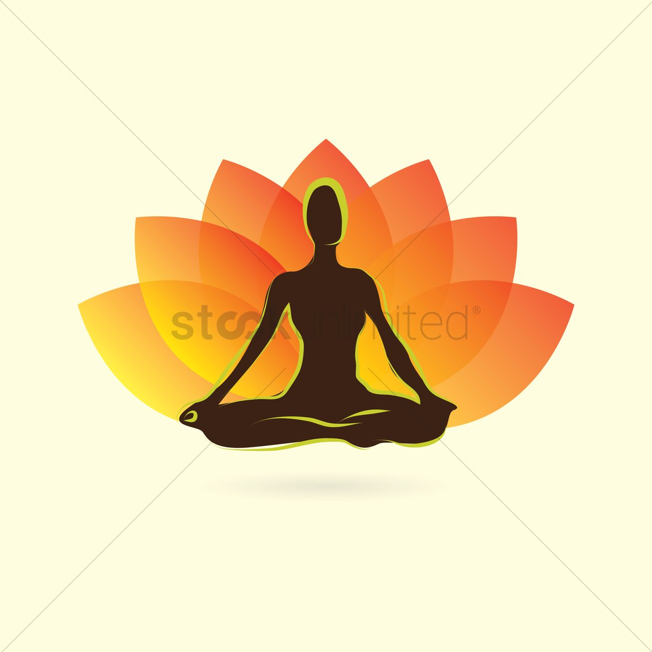 Yoga lotus position clipart vector download Woman silhouette practising yoga in lotus pose Vector Image ... vector download