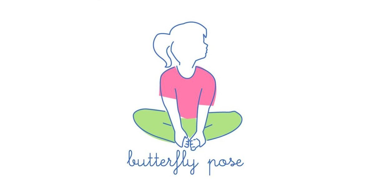 Yoga pose butterfly clipart image royalty free stock 6 Easy Yoga Poses For Kids To Calm Their Little Minds image royalty free stock