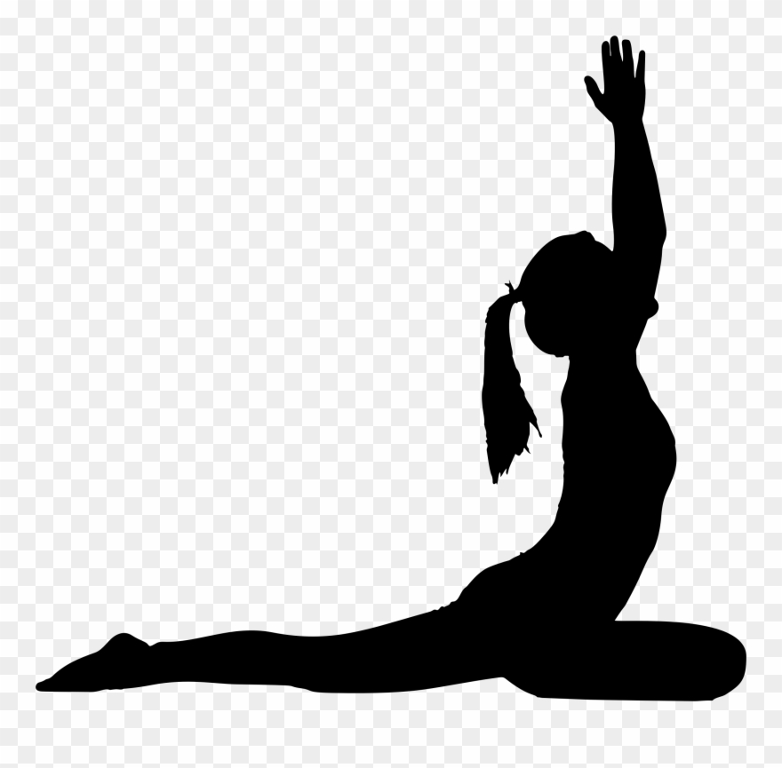 Yoga pose silhouette clipart clipart freeuse stock Female Yoga Pose Silhouette - Yoga Silhouette Png Clipart ... clipart freeuse stock