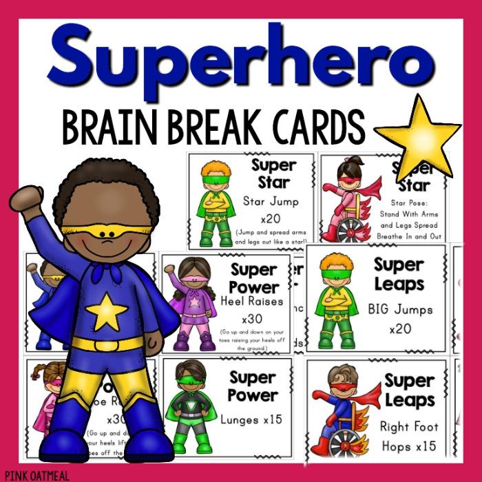 Yoga super hero teacher clipart freeuse stock Superhero Brain Breaks freeuse stock