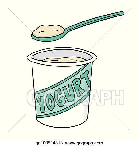 Yogart clipart clipart transparent library EPS Illustration - Vector set of yogurt. Vector Clipart ... clipart transparent library