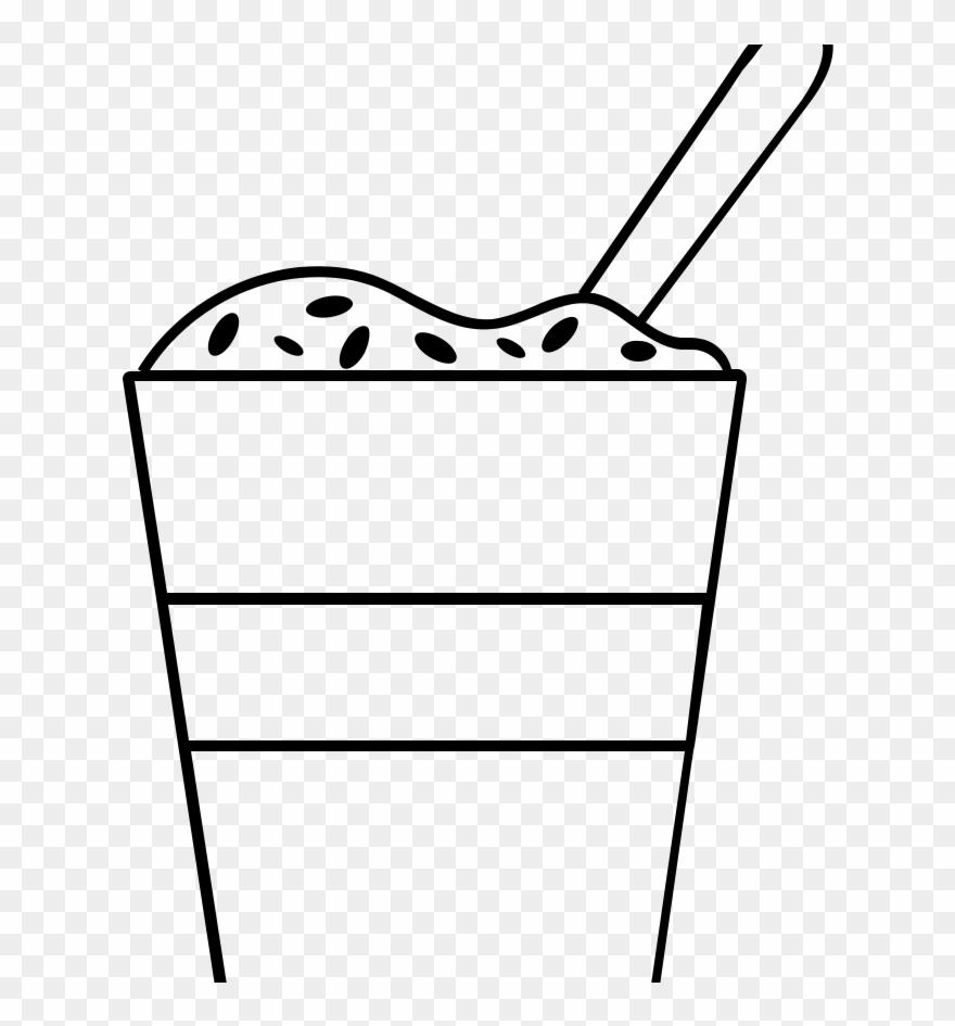 Yogurt parfait clipart svg transparent stock Frozen Yogurt Colouring Pages Coloring Page Parfait Clipart ... svg transparent stock