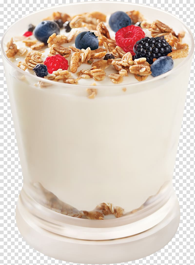Yogurt parfait clipart png freeuse stock Glass of milk with cereals and berries illustration, Ice ... png freeuse stock