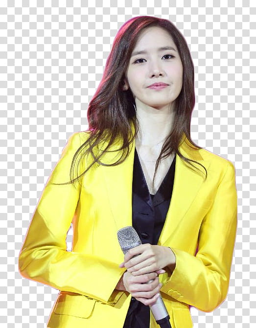 Yoona snsd clipart svg download Yoona SNSD, woman wearing yellow suit jacket holding ... svg download