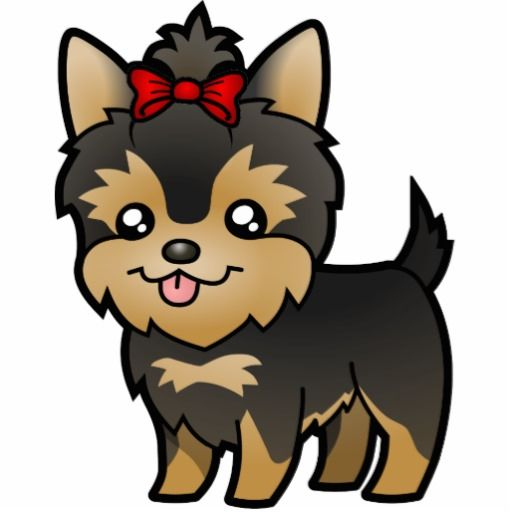 Yorkie clipart red