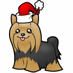 Yorkie clipart long hair clip library library Christmas Yorkie (tan 2 long hair) Cutout clip library library