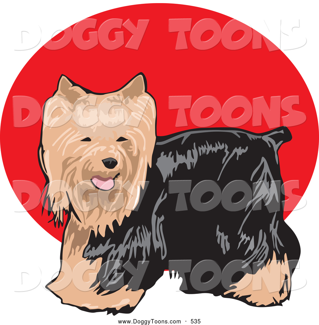 Yorkie with a cast clipart clip art free stock Doggy Clipart of a Cute and Friendly Long Haired Brown and ... clip art free stock