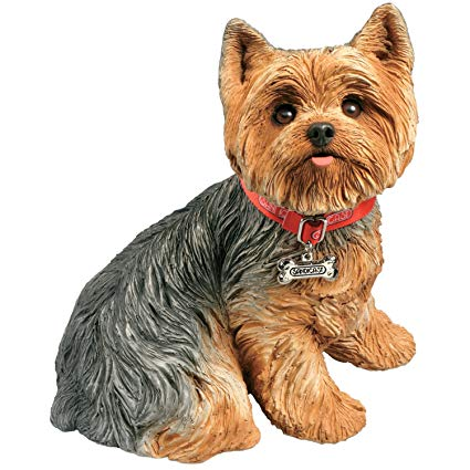 Yorkie with a cast clipart svg free download Sandicast Life Size Yorkshire Terrier Sculpture, Sitting svg free download