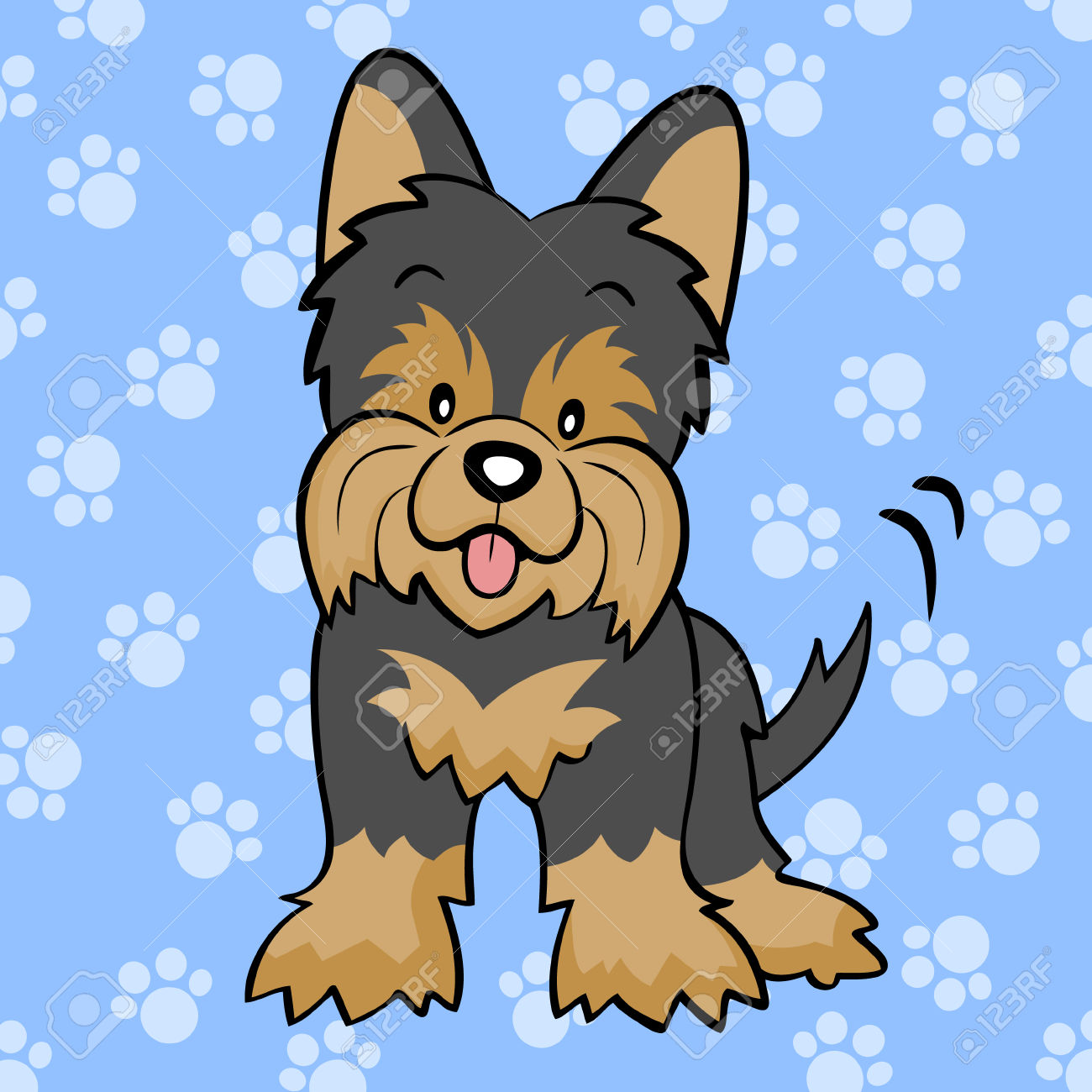Library of yorkie with a cast banner royalty free download ...