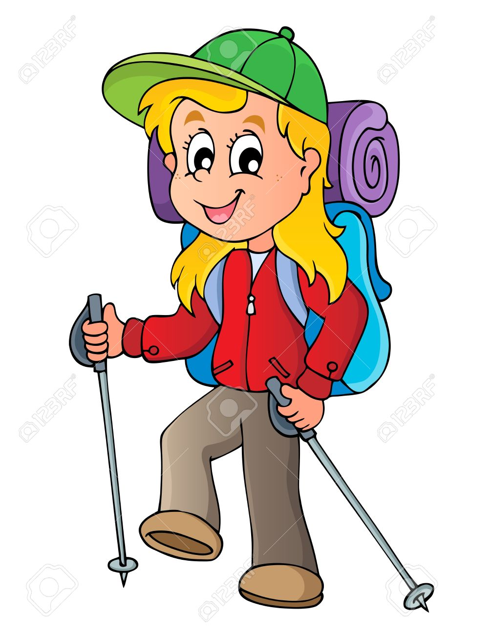 Woman hiking clipart png black and white library Girl Hiking Clipart | Free download best Girl Hiking Clipart ... png black and white library