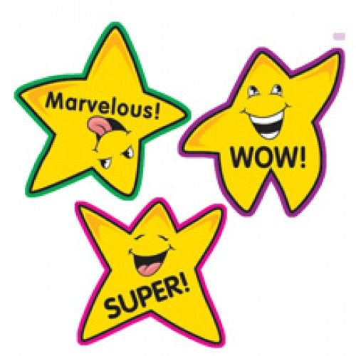 You are a super star teacher free clipart image black and white stock Teacher Stickers   100 Fun Shape Gold Star Reward School ... image black and white stock