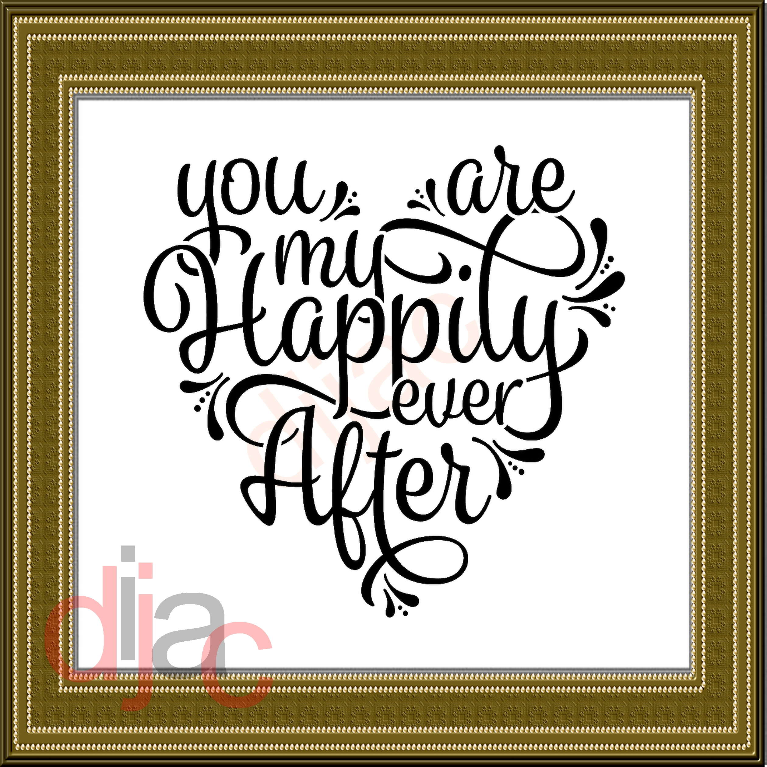 You are my happily ever after clipart banner royalty free Large Frame Decal You are my Happily Ever After 15 x 15 cm banner royalty free