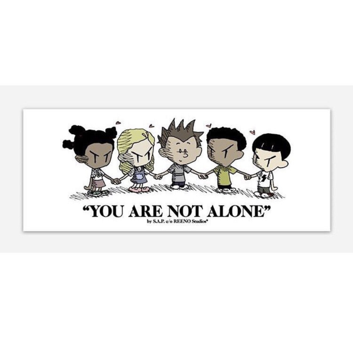 """You are not alone clipart royalty free S.A.P. x REENO Studios® """"you are not alone"""" sticker royalty free"""