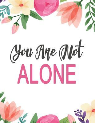 You are not alone clipart image royalty free stock You Are Not Alone: Cute Colorful Floral Notebook ... image royalty free stock