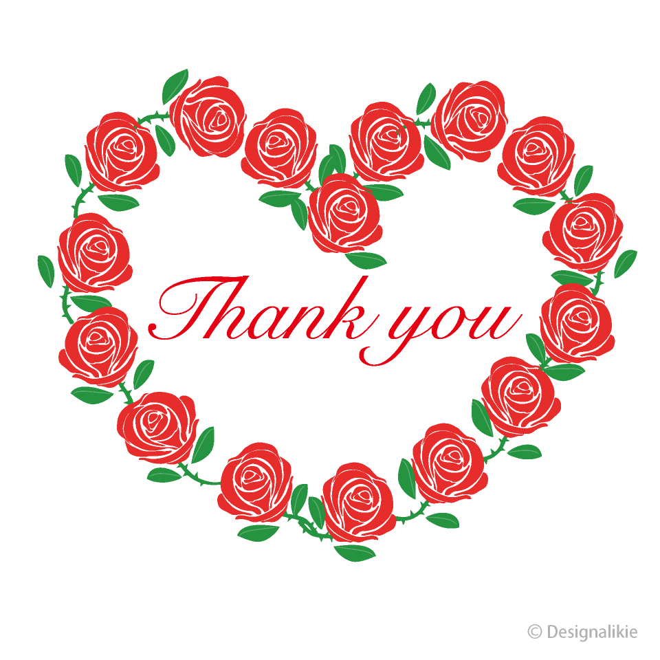 You clipart free jpg library stock Red Rose Thank You Clipart Free Picture|Illustoon jpg library stock