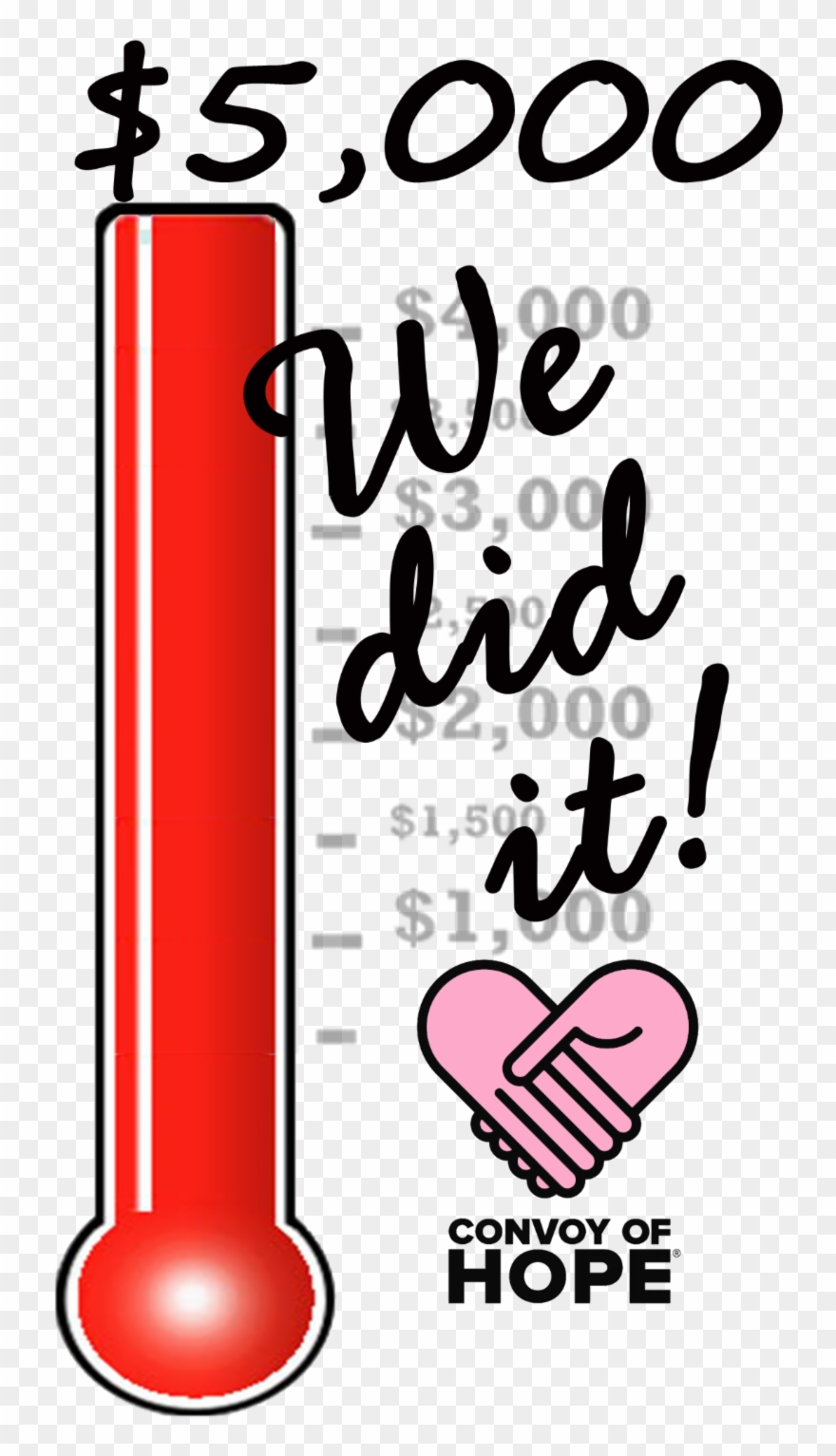 We did it clipart graphic free download We Did It You Made It Possible For Us Reach Our Goal ... graphic free download