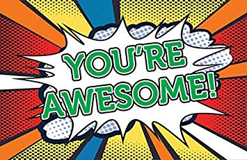 You re awesome clipart vector transparent library Postcards - Encouragement - All Ages - \