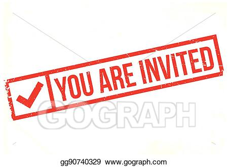You re invited stamp clipart picture library download Vector Illustration - You are invited rubber stamp. EPS ... picture library download