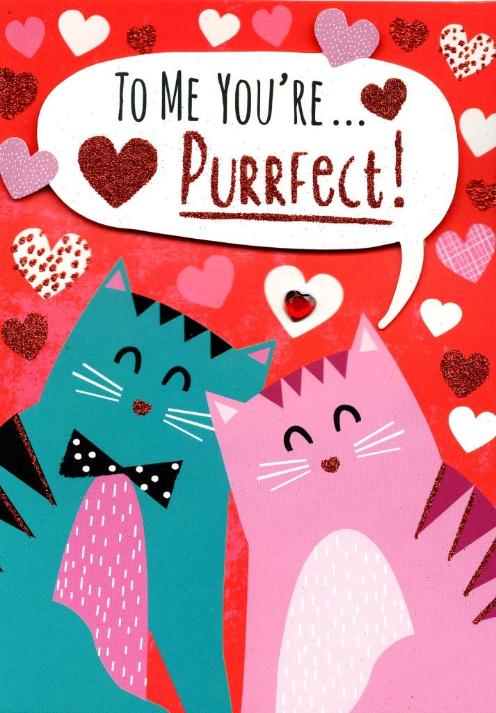 You re purrfect clipart clip library library You\'re Purrfect Valentine\'s Day Greeting Card clip library library